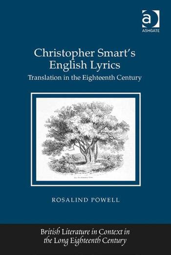 Christopher Smart's English Lyrics Translation in the Eighteenth Century book cover