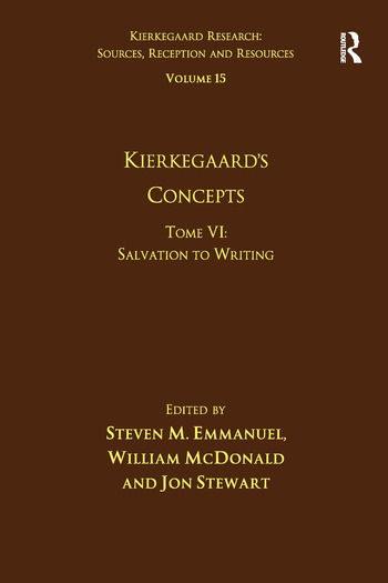 Volume 15, Tome VI: Kierkegaard's Concepts Salvation to Writing book cover