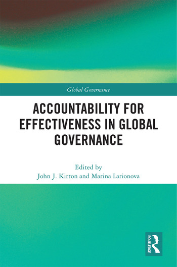 Accountability for Effectiveness in Global Governance book cover