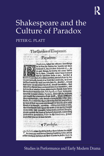 Shakespeare and the Culture of Paradox book cover