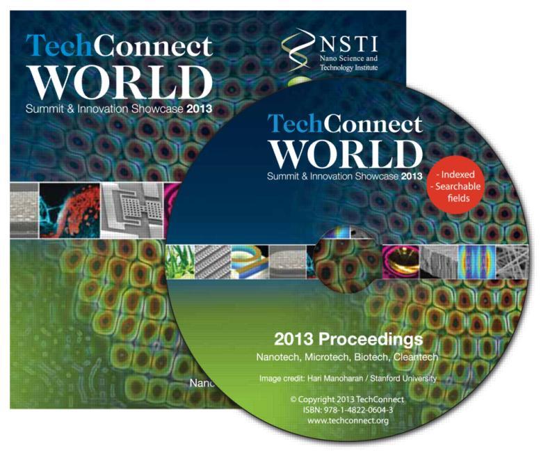 Tech Connect World 2013 Proceedings Nanotech, Microtech, Biotech, Cleantech Proceedings DVD book cover