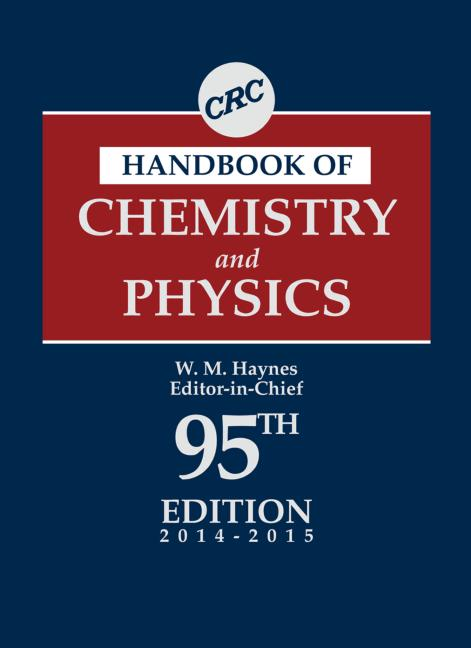 CRC Handbook of Chemistry and Physics, 95th Edition book cover