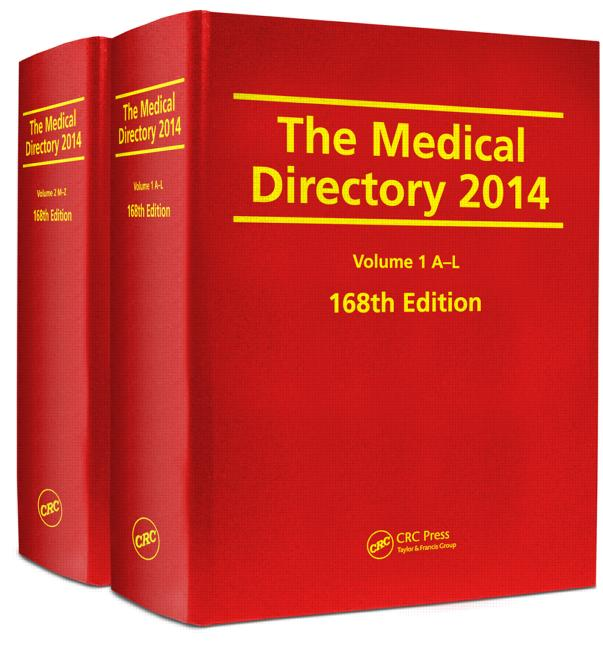 The Medical Directory 2014, 168th Edition book cover