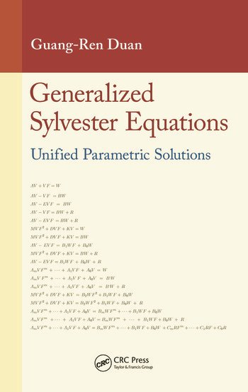 Generalized Sylvester Equations Unified Parametric Solutions book cover