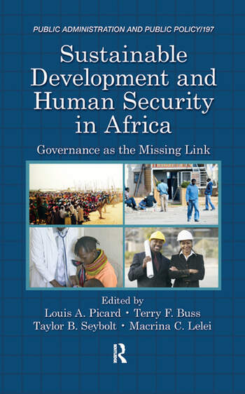 Sustainable Development and Human Security in Africa Governance as the Missing Link book cover