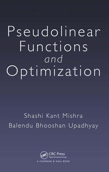 Pseudolinear Functions and Optimization book cover