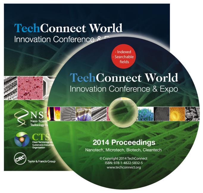 TechConnect World 2014 Proceedings Nanotech, Microtech, Biotech, Cleantech Proceedings DVD Vol 1-4 book cover