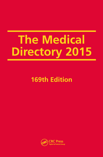 The Medical Directory 2015 book cover