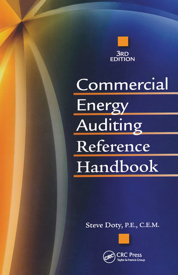 Commercial Energy Auditing Reference Handbook, Third Edition book cover