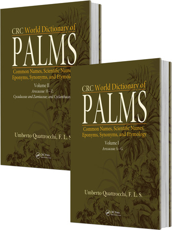 CRC World Dictionary of Palms Common Names, Scientific Names, Eponyms, Synonyms, and Etymology (2 Volume Set) book cover
