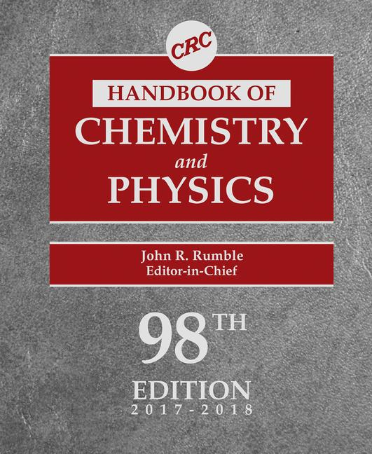 CRC Handbook of Chemistry and Physics, 98th Edition book cover