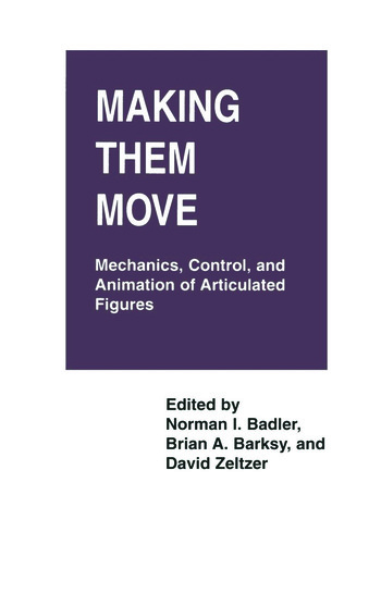 Making Them Move Mechanics, Control & Animation of Articulated Figures book cover