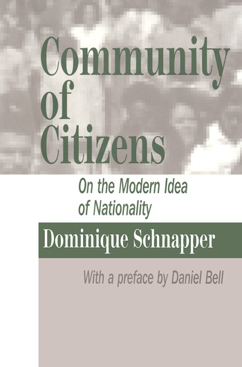 Community of Citizens On the Modern Idea of Nationality book cover