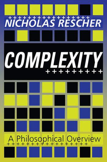 Complexity A Philosophical Overview book cover