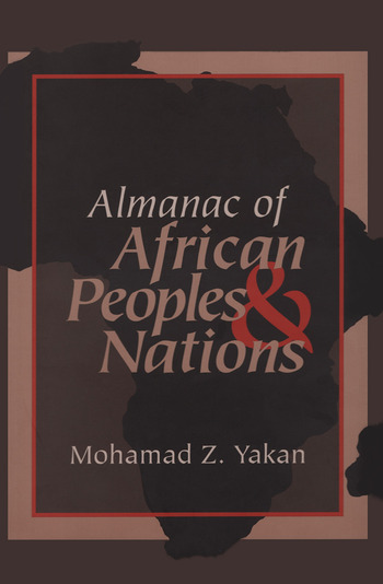 Almanac of African Peoples and Nations book cover