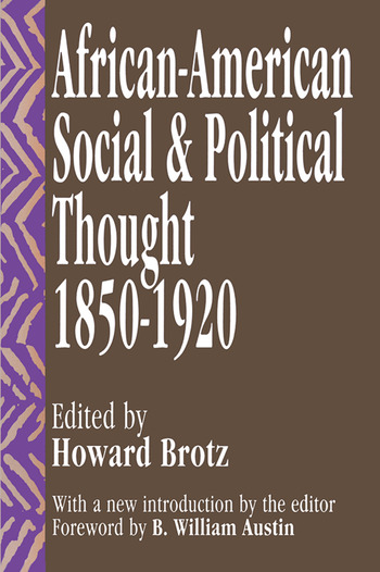African-American Social and Political Thought 1850-1920 book cover