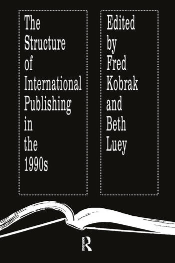 The Structure of International Publishing in the 1990s book cover