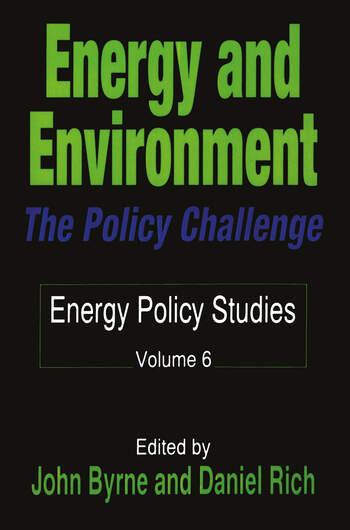 Energy and Environment The Policy Challenge book cover
