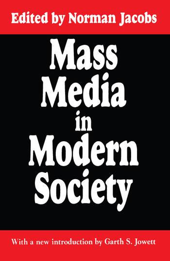 Mass Media in Modern Society book cover