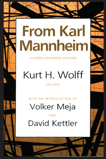 From Karl Mannheim book cover