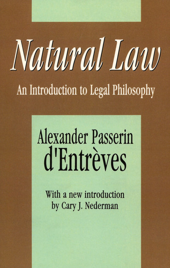 Natural Law An Introduction to Legal Philosophy book cover