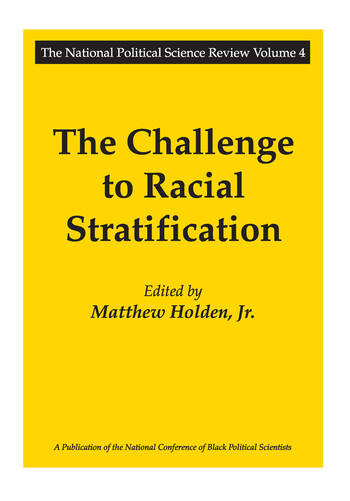 The Challenge to Racial Stratification book cover