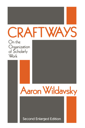 Craftways On the Organization of Scholarly Work book cover