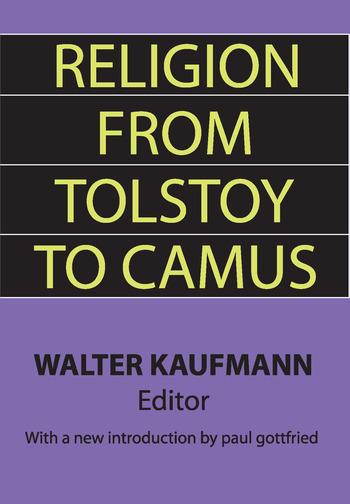 Religion from Tolstoy to Camus book cover
