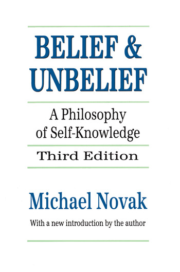 Belief and Unbelief A Philosophy of Self-knowledge book cover