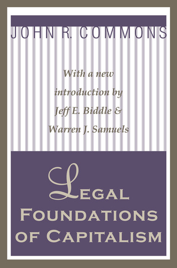 Legal Foundations of Capitalism book cover