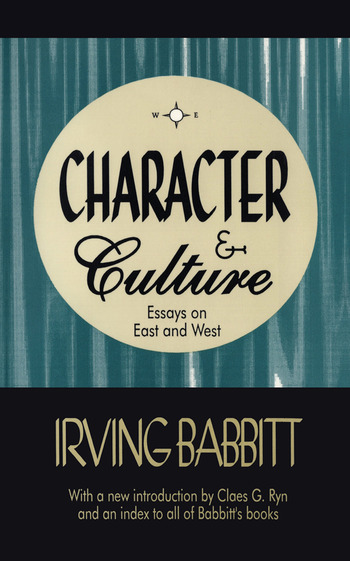 Character & Culture Essays on East and West book cover