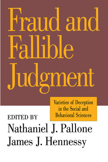 Fraud and Fallible Judgement Deception in the Social and Behavioural Sciences book cover