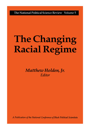 The Changing Racial Regime book cover