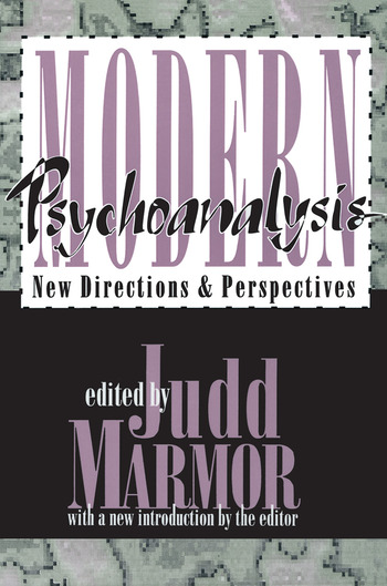 Modern Psychoanalysis New Directions and Perspectives book cover