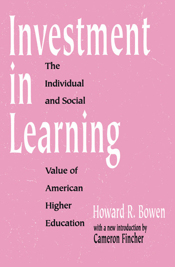Investment in Learning The Individual and Social Value of American Higher Education book cover