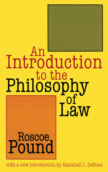 An Introduction to the Philosophy of Law book cover
