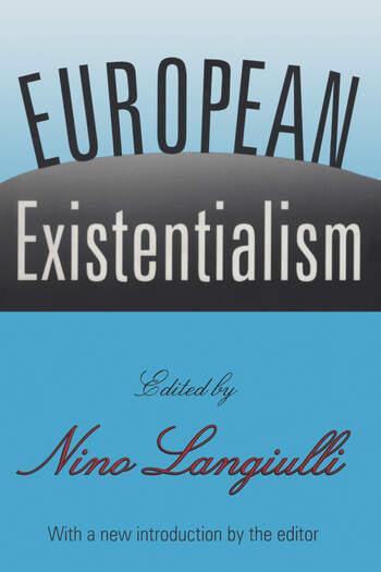 European Existentialism book cover