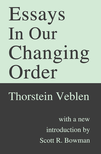 Essays in Our Changing Order book cover