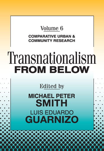 Transnationalism from Below Comparative Urban and Community Research book cover