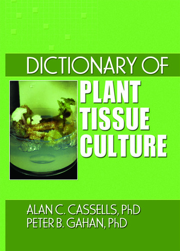 Dictionary of Plant Tissue Culture book cover
