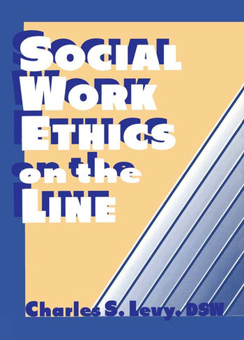 Social Work Ethics on the Line book cover