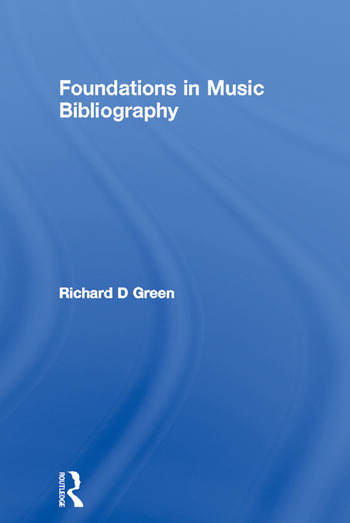 Foundations in Music Bibliography book cover