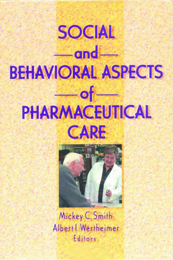 Social and Behavioral Aspects of Pharmaceutical Care book cover