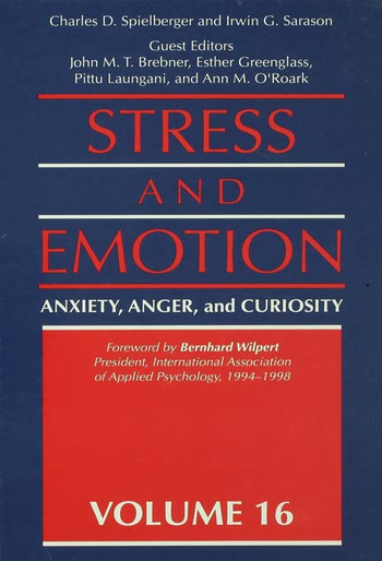 Stress And Emotion Anxiety, Anger, & Curiosity book cover