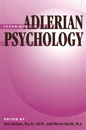 Techniques In Adlerian Psychology book cover