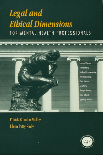 Legal and Ethical Dimensions for Mental Health Professionals book cover