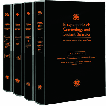 Encyclopedia of Criminology and Deviant Behaviour book cover