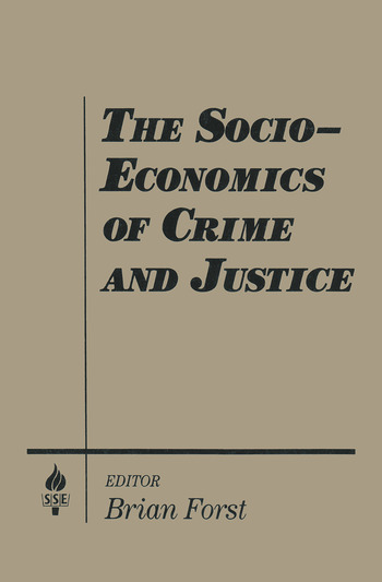 The Socio-economics of Crime and Justice book cover