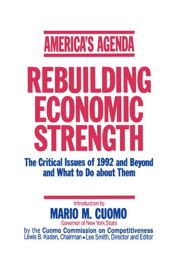 America's Agenda: Rebuilding Economic Strength Rebuilding Economic Strength book cover