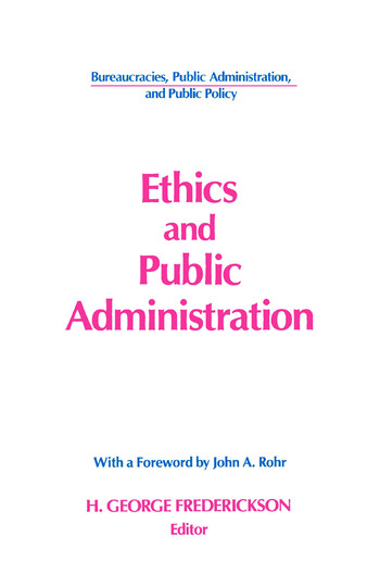 Ethics and Public Administration book cover